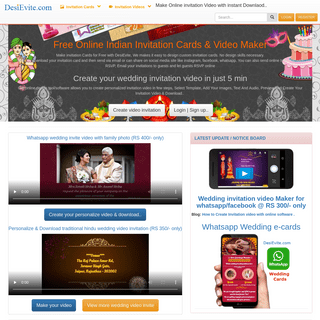 Free Indian Invitation Cards & Video Maker - Online Invitations with RSVP