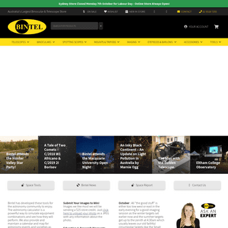 Telescopes, Binoculars, Astronomy Cameras - Bintel Official - Sydney Australia - Bintel