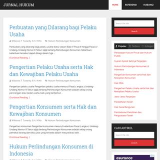 Jurnal Hukum - Belajar Hukum Online