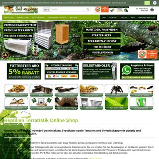Reptilien kaufen, Terraristik-Shop, Reptilienversand - MD-Terraristik