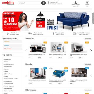 ArchiveBay.com - mebline.sk - Mebline - Moderný nábytok - Internetový obchod