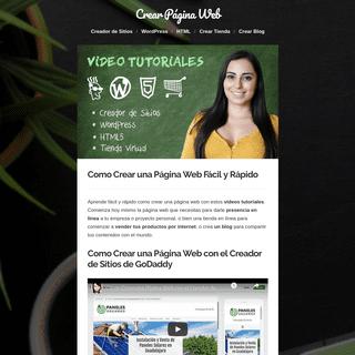 Como Crear una Página Web Fácil y Rápido -- Video Tutoriales --