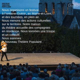 Home - Festival du Nouveau Théâtre Populaire