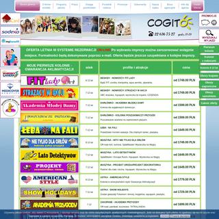 ArchiveBay.com - kolonie.net.pl - Kolonie 2020, obozy młodzieżowe 2020 - rezerwacje on-line- kolonie letnie 2020, kolonie dla dzieci - Centrum Kolonii i Obozów