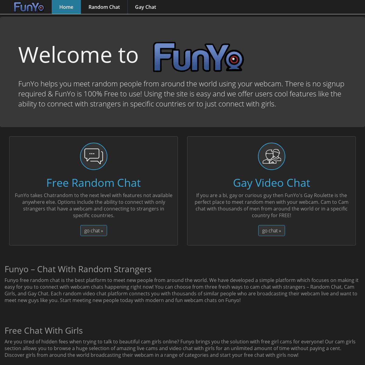 Free Random Video Chat - FunYo