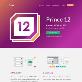 Prince - Convert HTML to PDF with CSS
