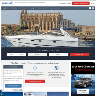 Boats for events, rental boats and moorings - iNautia