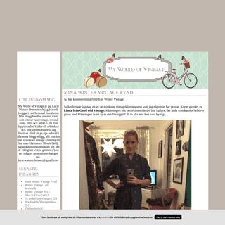 My World of Vintage - My World of Vintage är jag Lucie Watson Donnert och jag bor och bloggar i min hemstad Stockholm. Min blog