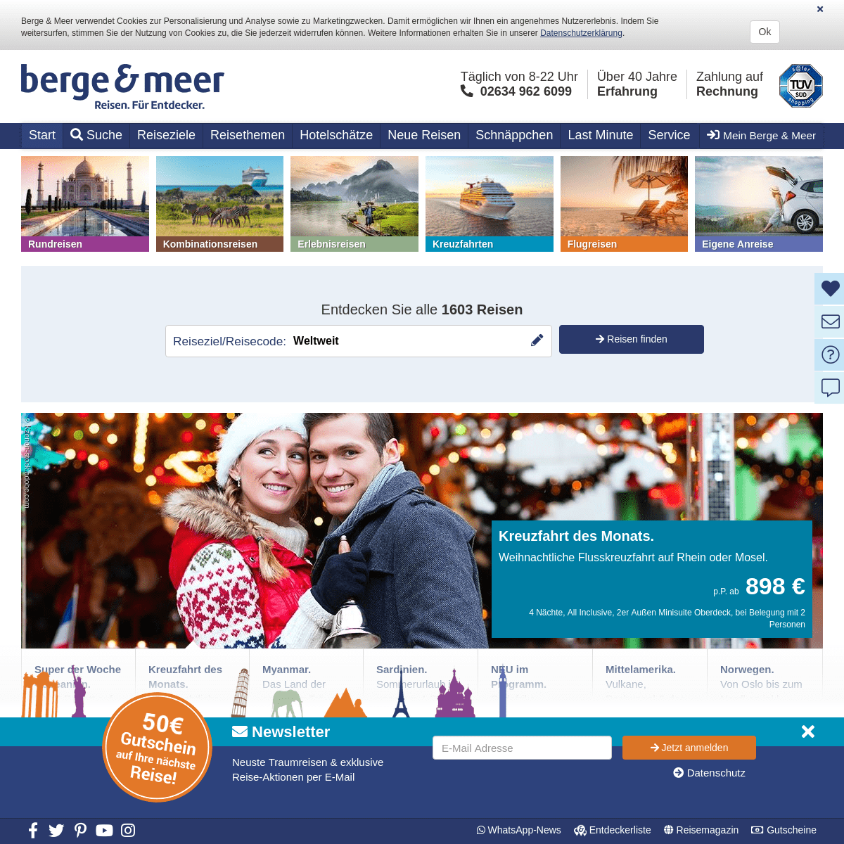 Rundreisen, Kreuzfahrten und Städtereisen von Berge & Meer - Berge & Meer