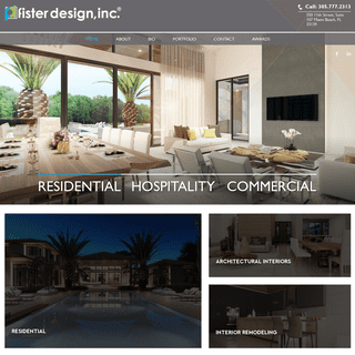 Interior Design for Residential, Hospitality & Commercial - Fister Design