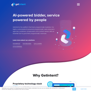 Getintent - AI-powered bidder, service powered by people