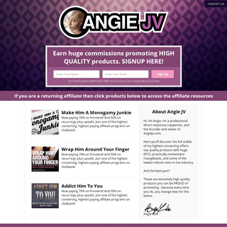 Angie JV - Welcome to Angie JV Site