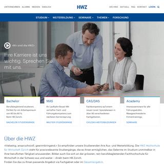 HWZ Hochschule für Wirtschaft Zürich - Berufsbegleitend studieren