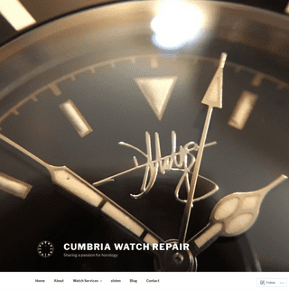 Cumbria Watch Repair – Sharing a passion for horology