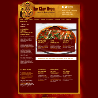The Clay Oven Indian Restaurant Edinburgh, Indian Takeaway