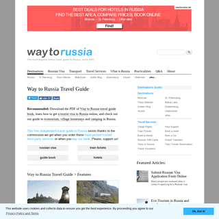 Way to Russia Travel Guide - City Guides, Russian Visas, Train Tickets