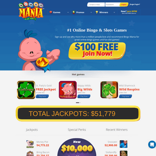 ArchiveBay.com - bingomania.com - Play Online Bingo Games for Money - Grab $100 Free - BingoMania
