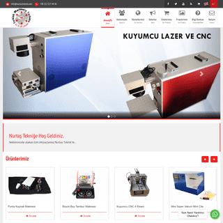 Nurtaş Teknik - Lazer Makinaları, Yazı Makinaları, CNC Makinaları