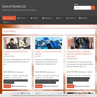 Dokustreams.de - Dokumentationen und Reportagen kostenlos online schauen