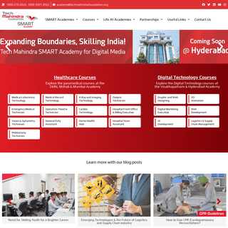 Tech Mahindra SMART Academy, A Vocational Training & Skilling Initiative