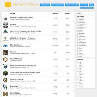 ArchiveBay.com - serverliste.net - serverliste.net - Minecraft Serverliste