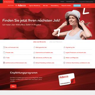 Die Stellenvermittlung für Ihre Jobsuche – Adecco