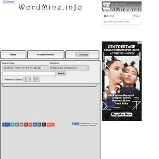 WordMine.info -- International Word Search Engine