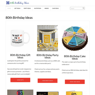 80th Birthday Ideas - The Best Party Ideas, Gifts, Decorations & More!