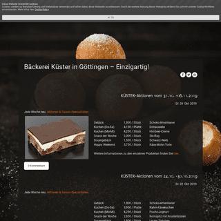 Bäckerei Küster in Göttingen - Einzigartig! - Bäckerei Küster
