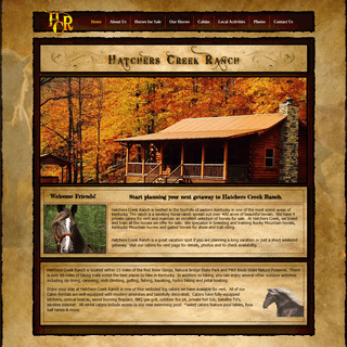 Hatchers Creek Ranch, cabin rentals, horses for sale, red river gorge