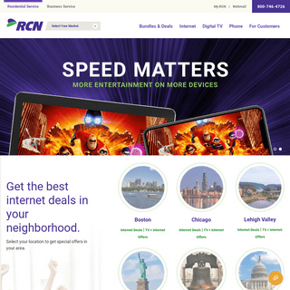 RCN - High Speed Internet, TV and Phone Services