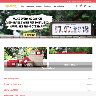 Online Gifts- Send Best Surprise Gifts in India with Free Delivery - Oyehappy.com