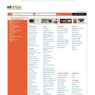 Canada Free Classifieds Ads Online, Canada advertising classified ad