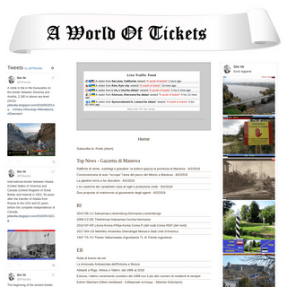 A world of tickets
