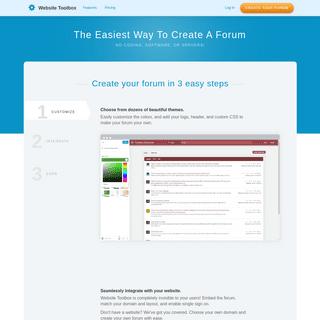 Create Your Forum In Seconds - Website Toolbox