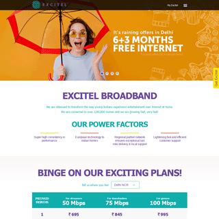 Excitel - Ultra-Fast Speed Broadband Internet in Delhi & Hyderabad