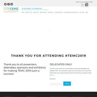 TEMC 2019 – Distilling Ideas - Transforming Futures