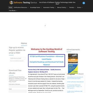 Software Testing Genius, Gain Free Software Testing Material