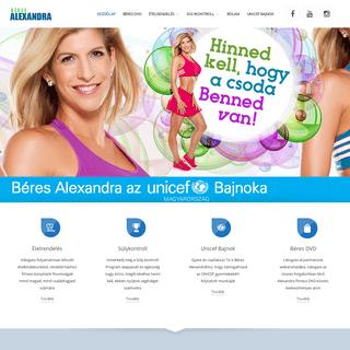Béres Alexandra hivatalos weboldal - Az egészség érték!
