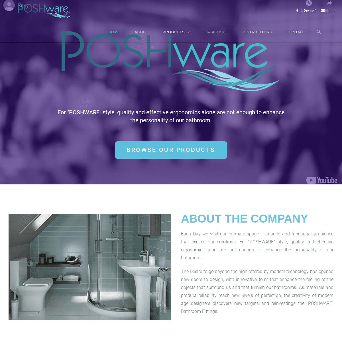 Poshware Polymer – A Sanitary Ware Hub