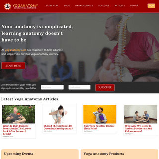 Yoga Anatomy Books, Videos, Courses, and Articles