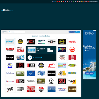 Live radio New Zealand. All major radio stations