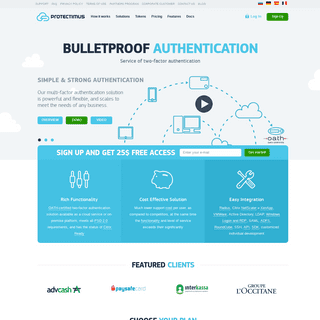 Protectimus Solutions- Two-Factor Authentication Provider - Protectimus