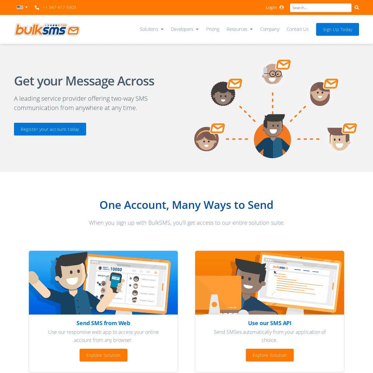 BulkSMS.com - SMS Gateway to 213 Countries - BulkSMS.com