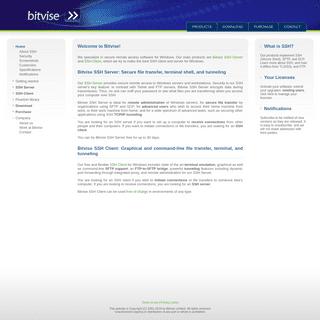 Bitvise- SSH software for Windows - Bitvise