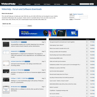 ArchiveBay.com - videohelp.com - VideoHelp - Forum and Software downloads