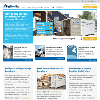 Moving and Storage Solutions - Rent BigSteelBox Shipping Containers