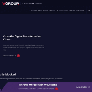 WGroup - The Peer-Led IT Management Consulting Firm