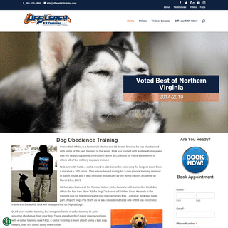 Northern Virginia Dog Trainers - Off Leash K9 Dog Training - Dog Obedience Training - Expert Dog Trainer - Pro Dog Trainer Nick