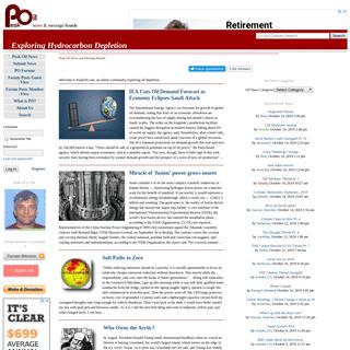 Peak Oil News and Message Boards - Exploring Hydrocarbon Depletion